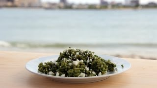 Orzo With Spinach Pesto Recipe - Laura Vitale - Laura In The Kitchen Episode 428