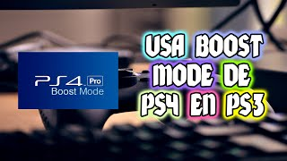 INSTALA BOOST MODE DE PS4 EN TU PS3 SOLO CFW 4.84