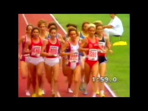3182 European Track & Field 1990 1500m Women