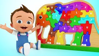 Baby Learning Alphabets for Children - ABC Songs for Kids Elephant ...