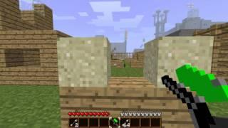 Minecraft Paintball with Piston Barricades!