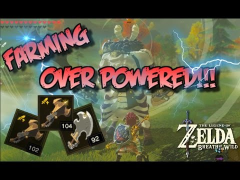 OVER POWERED LYNEL WEAPON FARMING!!  Zelda Breath Of The Wild