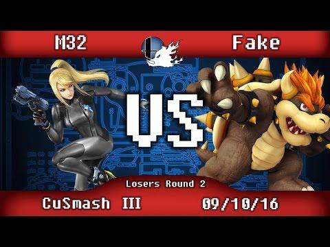 CuSmash III - M32 (Zero Suit Samus) VS Fake (Bowser) - Losers Round 2