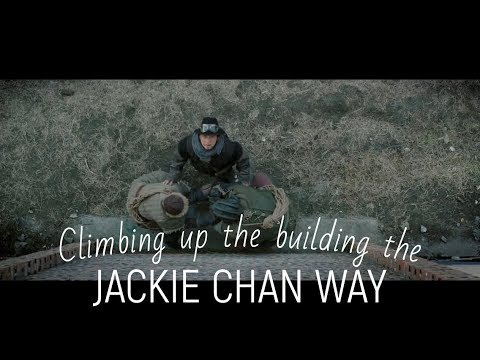 Railroad Tigers (2016): How to climb up a building the Jackie Chan way