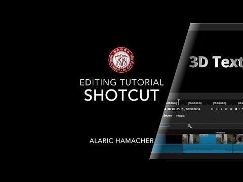 Shotcut Tutorial 2018, video editing (interface, sound, 3D titles)