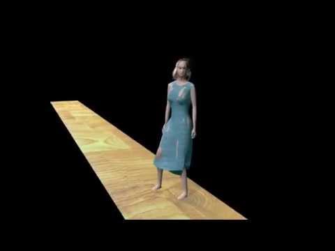 Fashion model - animation 3D