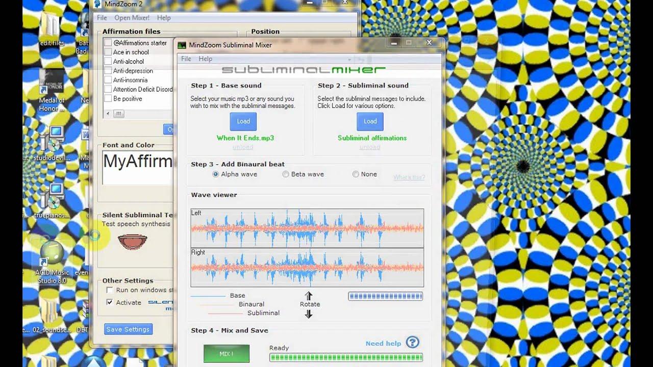 Mindzoom Subliminal Software - Mindzoom