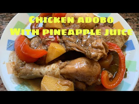 Chicken Adobo With Pineapple Juice & Boiled Eggs