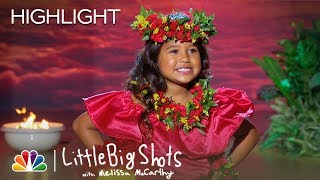 Hawaiian Dancer Hunnay Performs Hula as Keala Settle Sings - Little Big Shots