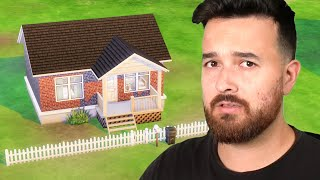 Building a totally normal house with no secrets (The Sims 4)