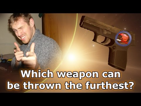 Which weapon can be thrown the furthest?