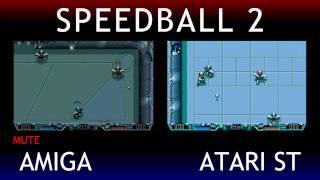 Amiga V Atari ST - Speedball 2: Brutal Deluxe