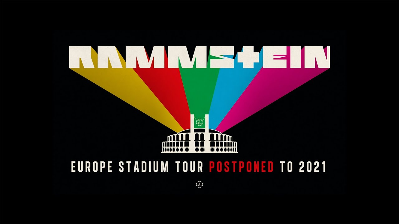 EUROPE STADIUM TOUR RESCHEDULED TO 2021!