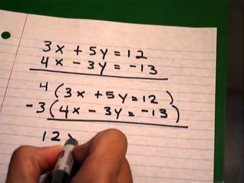 Systems Of Linear Equations Elimination Method Part 2