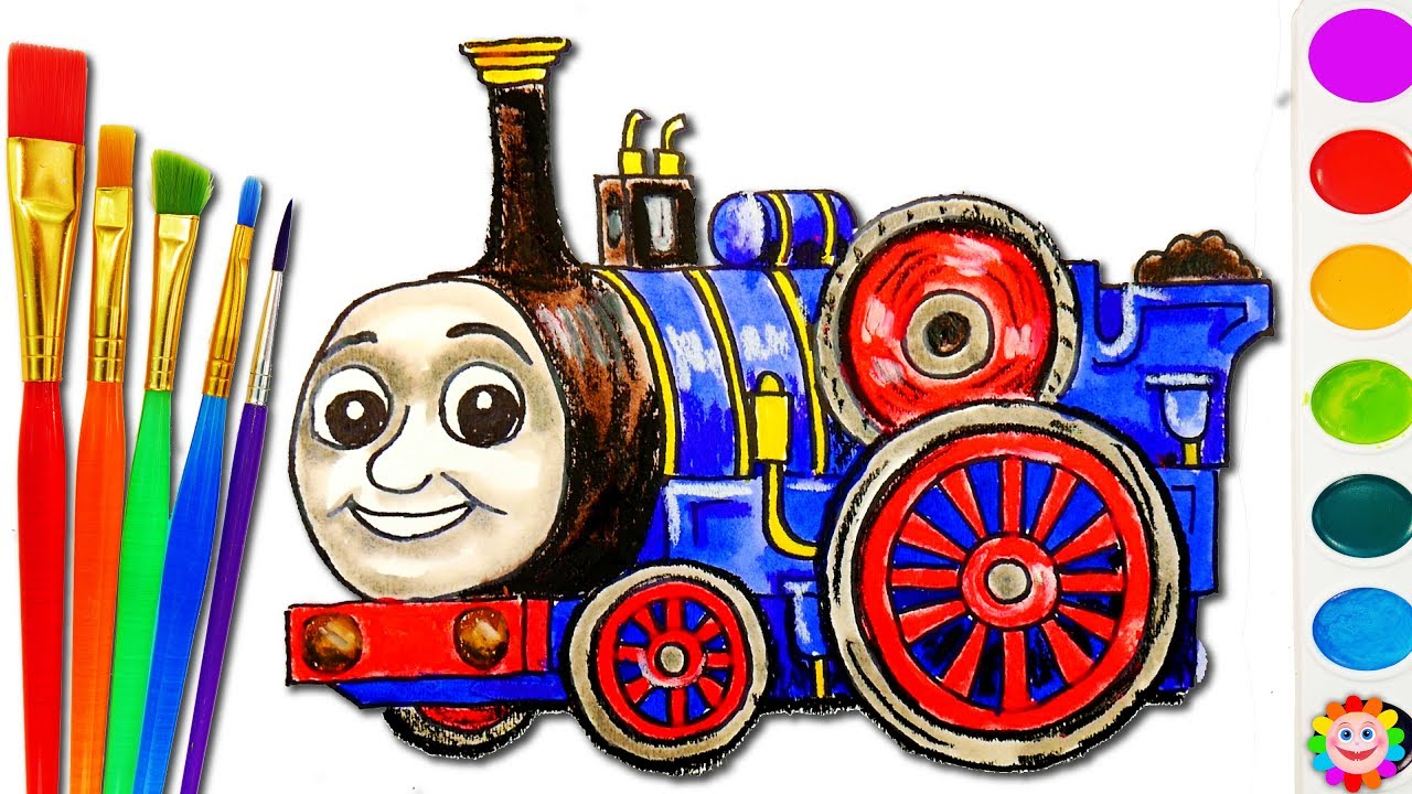 Thomas and Fiends How to Draw Train Coloring Page Art Colors for ...