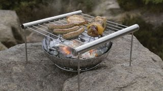 Grilliput Duo Stainless Stęel Portable Grill Set-Up, Demo & Review