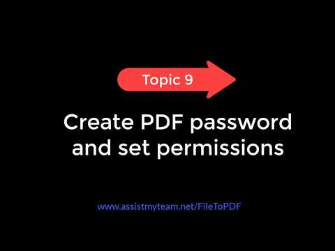Topic 9: Create PDF Password And Restrict Editing/Printing Permissions (PDF Converter For Windows)