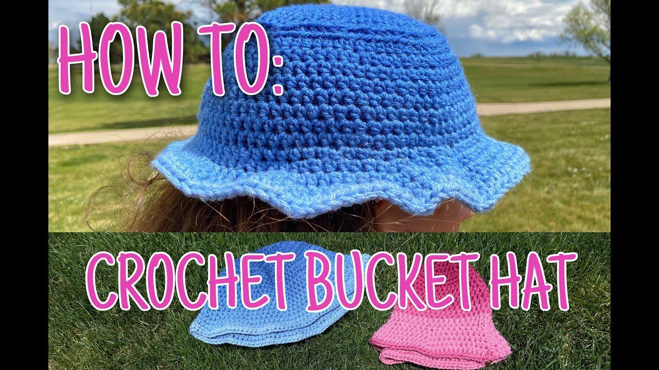HOW TO CROCHET BUCKET HAT 💞