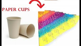 Easy corner  Rangoli for Diwali with paper cups