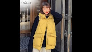 Vielleicht 2021 лидер продаж осенне зимний жилет для женщин женский утепленный жилет хлопковый