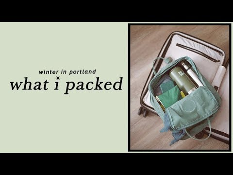 What I Packed For A Quick Trip to Portland | Alli Cherry