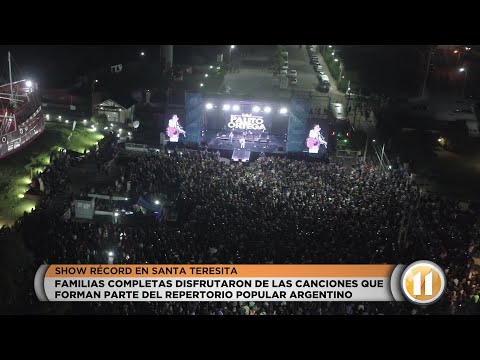 Una multitud vibró con Palito Ortega en Santa Teresita