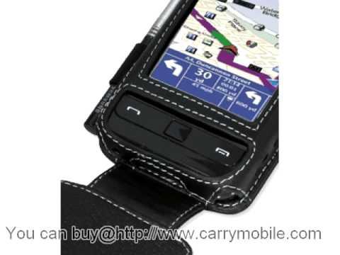 Carrymobile Leather Case for Samsung SCH-i910 Omnia CDMA/Verizon Omnia - Flip Down Type (Black) Ver. 2
