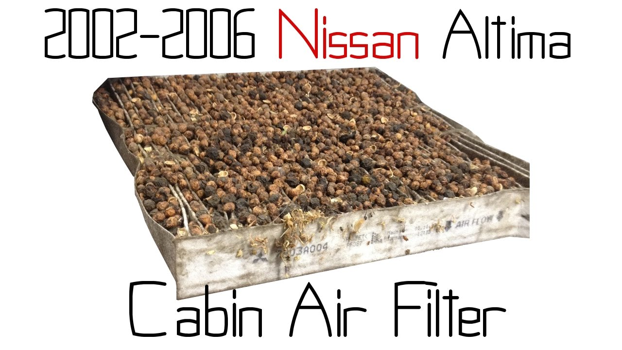 02 06 nissan altima cabin air filter youtube. Black Bedroom Furniture Sets. Home Design Ideas