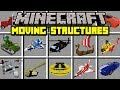 Minecraft MOVING STRUCTURES MOD! | BUILD MOVING PLANES, BOATS, TANKS, AND CARS! | Modded Mini-Game