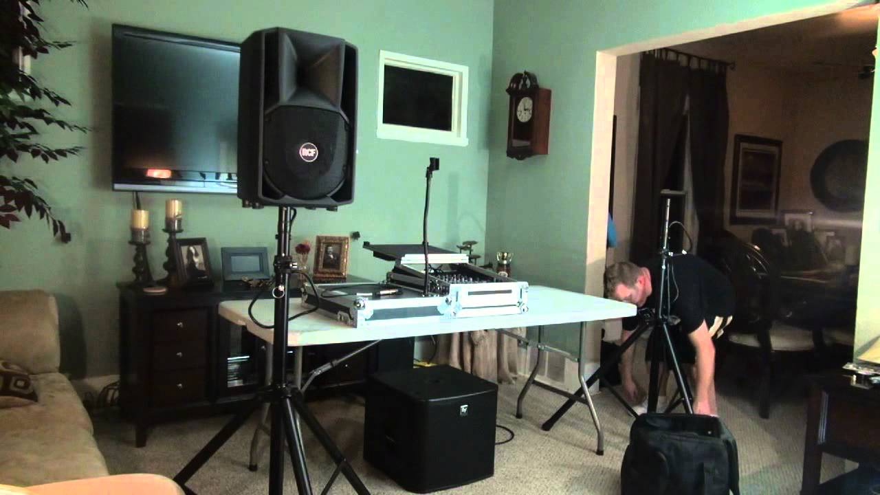 Set Up Test  The DJ Micro System's PA  YouTube