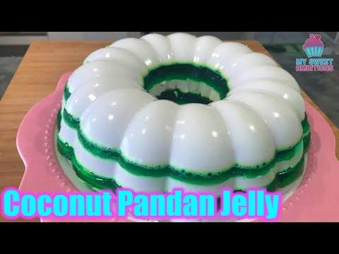 Coconut Pandan Jelly - Mysweetambitions