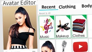 MAKING ARIANA GRANDE A ROBLOX ACCOUNT!!