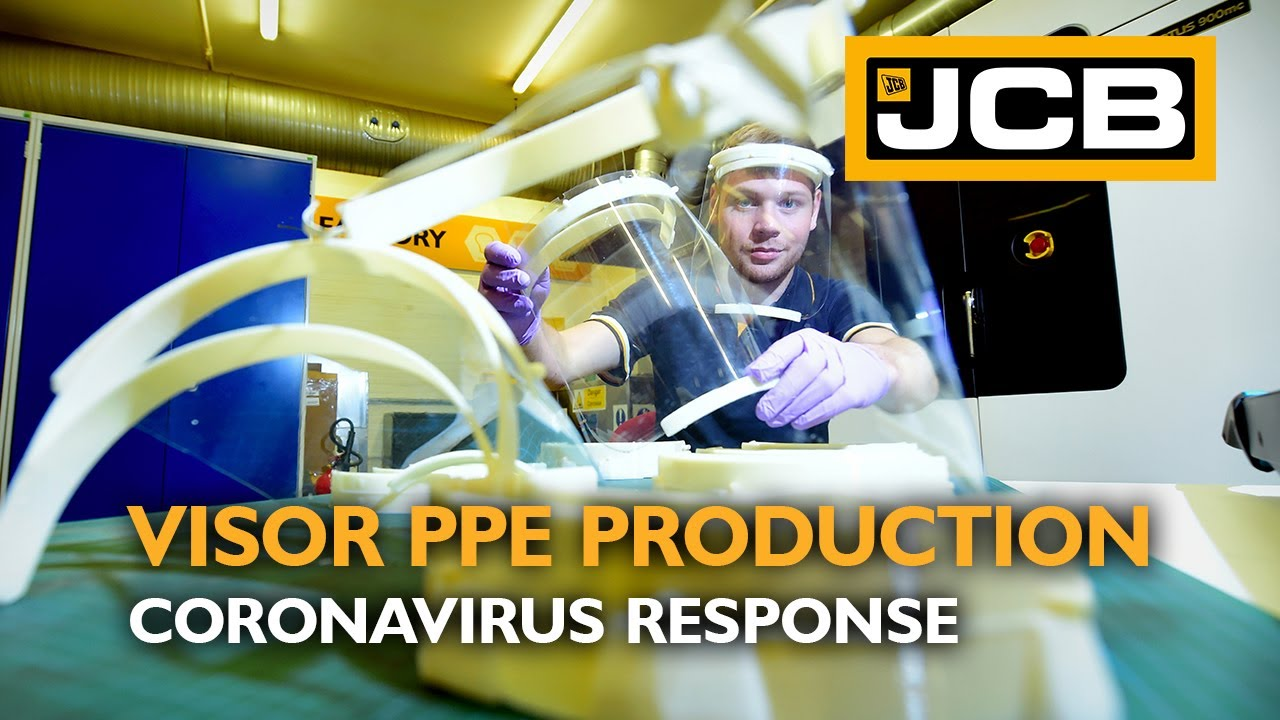 Building PPE Visors for NHS, Using 3D Printing - JCB Coronavirus Response