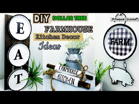 Dollar Tree DIY Farmhouse Kitchen Decor Ideas DIY Home Decor 2019