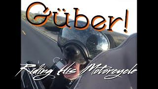 Motorcycle Riding Dog Güber