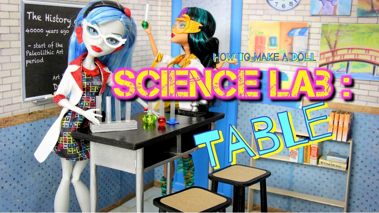 Diy How To Make Doll Science Lab Back To School