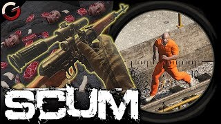 SNIPING NOOBS! SVD Dragunov Sniper Montage | SCUM Gameplay