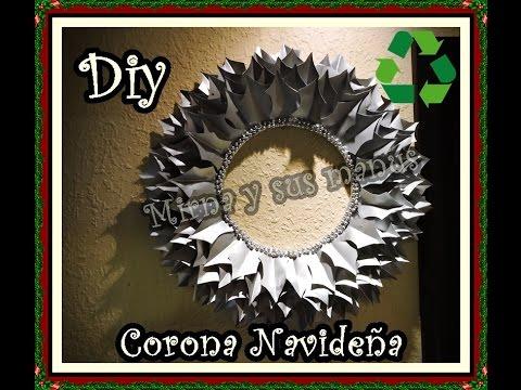 Diy como hacer una corona de navidad reciclando diy how - Como hacer coronas de navidad ...