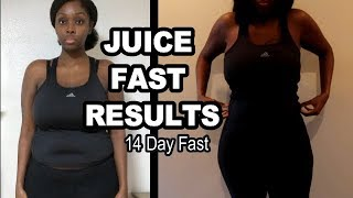 FAST WEIGHT LOSS | 14 DAY JUICE FAST RESULTS (SO HAPPY)