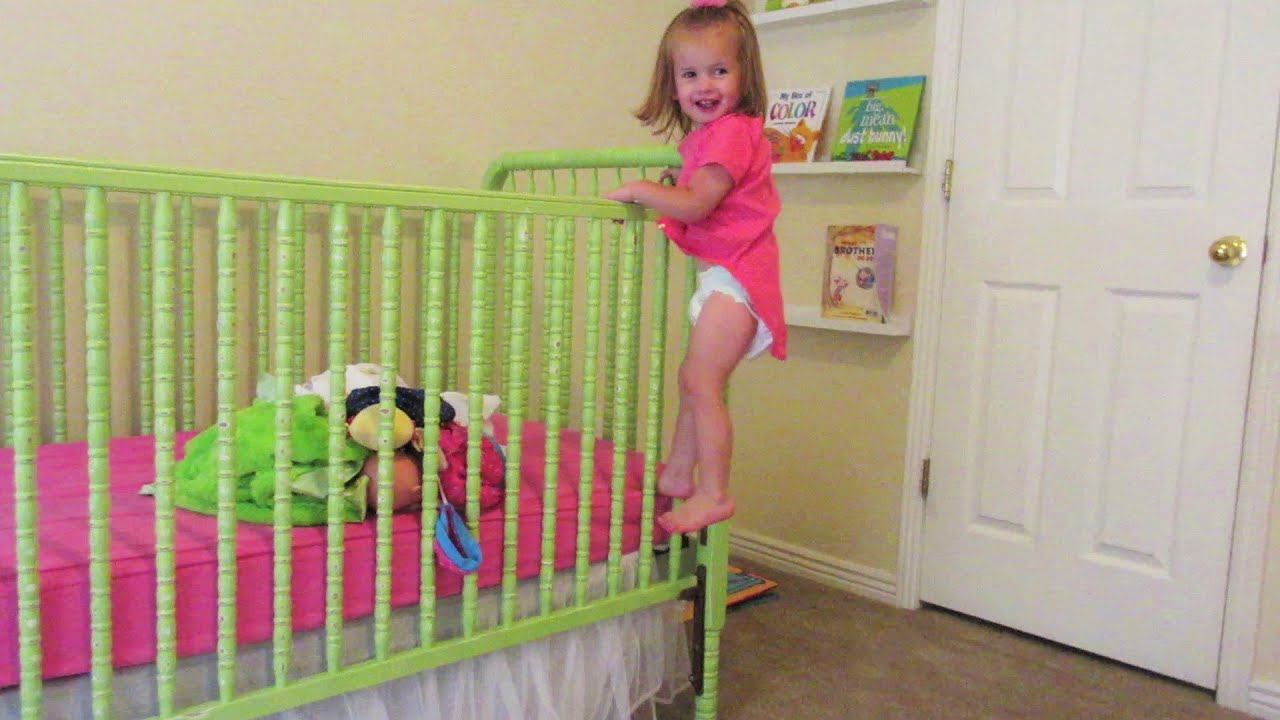 BABY climbs out of crib!!! - YouTube