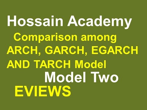 Comparison Among ARCH GARCH, EGARCH, TARCH Model. Model Two. EVIEWS