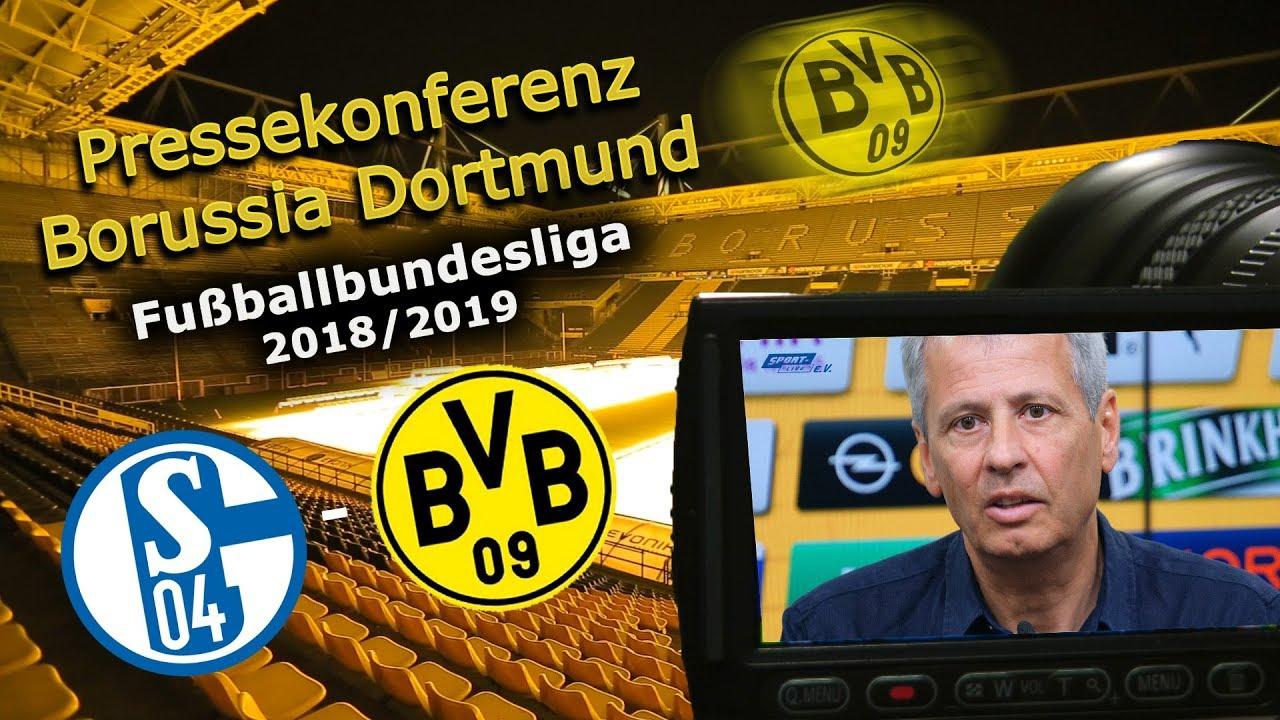 FC Schalke 04 - Borussia Dortmund: Pk mit Lucien Favre und Michael Zorc