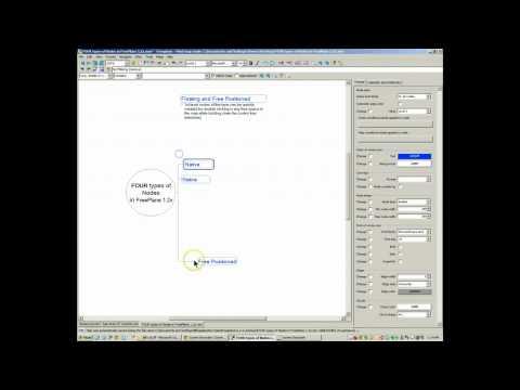 Node interaction in Freeplane 1.2.x