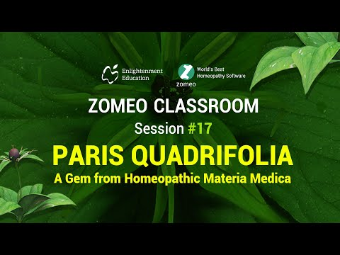 Zomeo Homeopathy Software - Paris Quadrifolia - Zomeo Classroom