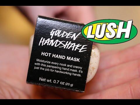 Lush - Golden Handshake Hot Hand Mask - Demo - Review