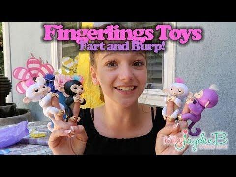 Fingerlings Toys Fart And Burp Baby Monkeys Youtube