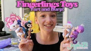 Fingerlings Toys Fart and Burp! Baby Monkeys!