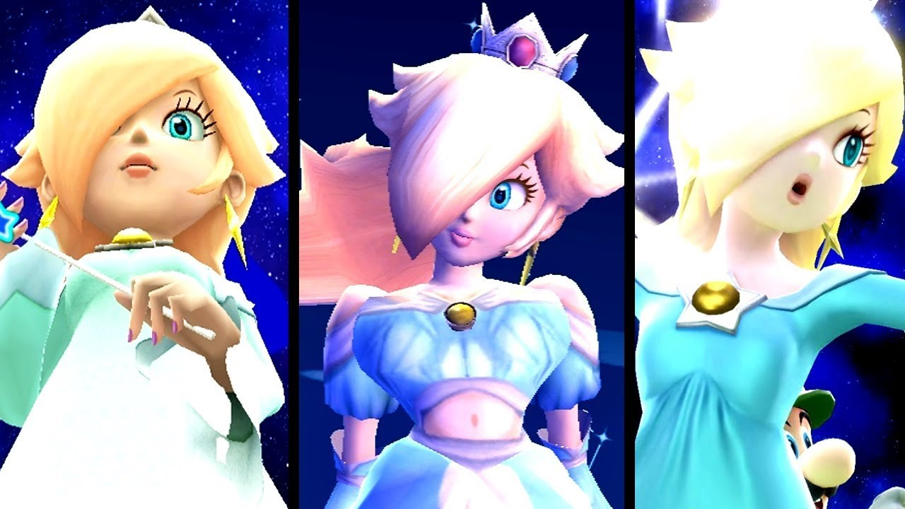 Super Mario Evolution of GIANTESS ROSALINA 2007-2015 (Wii to Wii U)
