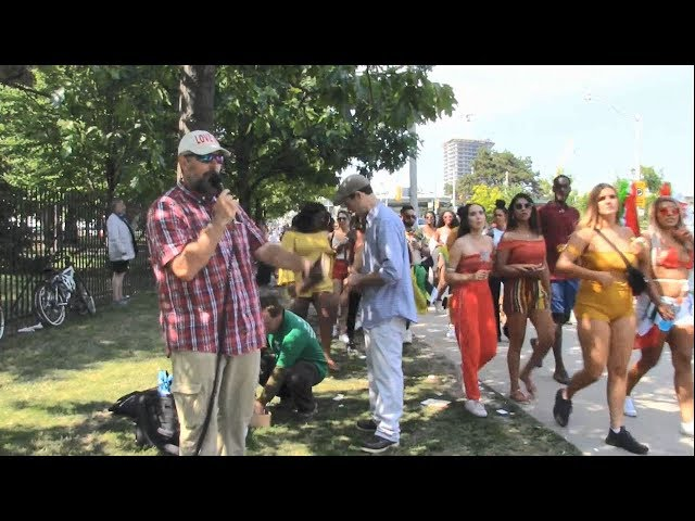 2018 Caribana Festival - Toronto, Canada - Street Preaching - Kerrigan Skelly