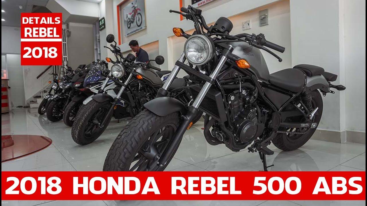 Details Honda Rebel 500 ABS 2018 | 2018 Honda Rebel 500 ABS two-cylinder | MOTO INTRODUCTION ...